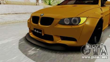 BMW M3 E92 Liberty Walk para la vista superior GTA San Andreas