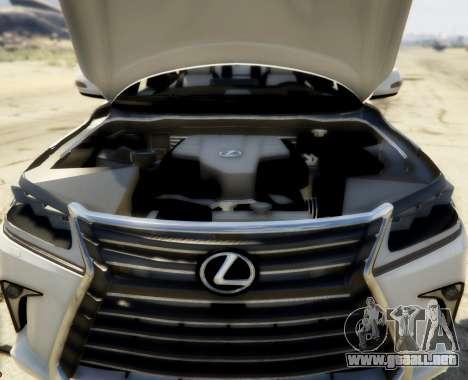 GTA 5 2016 Lexus LX 570 vista lateral trasera derecha