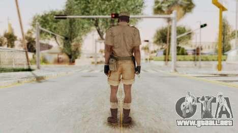 MGSV Phantom Pain CFA Soldier v1 para GTA San Andreas tercera pantalla