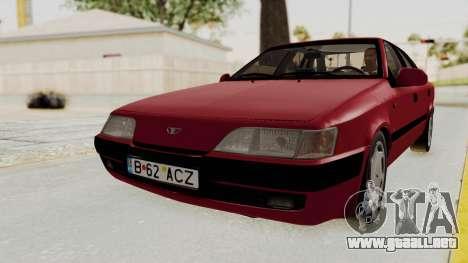 Daewoo Espero 1.5 GLX 1996 v2 Final para GTA San Andreas vista posterior izquierda