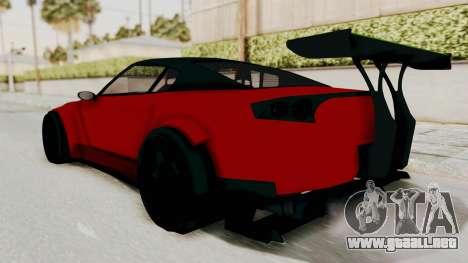 GTA 5 Annis Elegy Twinturbo No Spec para GTA San Andreas vista posterior izquierda