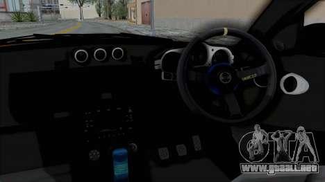 Nissan 350Z V6 Power para visión interna GTA San Andreas