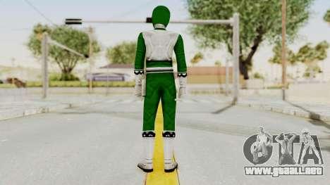 Power Rangers Lost Galaxy - Green para GTA San Andreas tercera pantalla