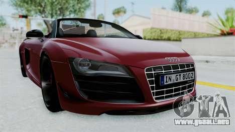 Audi R8 Spyder 2014 LB Work para GTA San Andreas