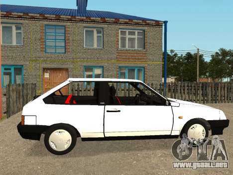 VAZ 2108 Stock by Greedy para GTA San Andreas vista posterior izquierda