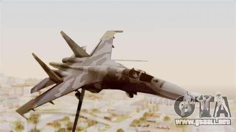 SU-27 Hydra para GTA San Andreas vista posterior izquierda