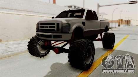 Ford F-350 Super Duty Monster Truck para GTA San Andreas