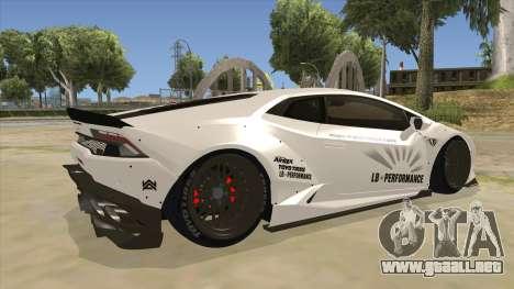 Lamborghini Huracan Liberty Walk para la visión correcta GTA San Andreas