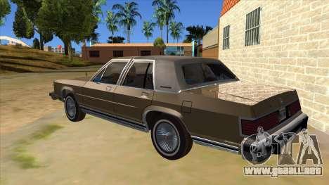 Mercury Grand Marquis 1986 v1.0 para GTA San Andreas vista posterior izquierda