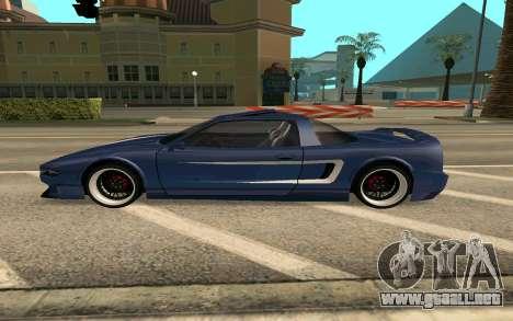 Infernus BlueRay V12 para GTA San Andreas left