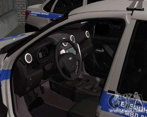Lada Granta de seguridad Privada para GTA San Andreas vista posterior izquierda