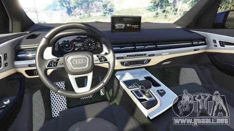 GTA 5 Audi Q7 2015 [rims2] vista lateral trasera derecha