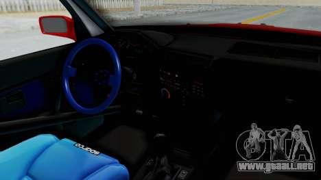 BMW M3 E30 Rocket Bunny Drift Style para visión interna GTA San Andreas