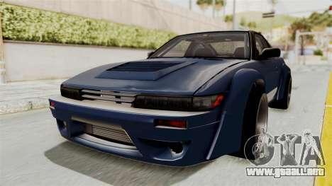 Nissan Silvia Sil80 para GTA San Andreas vista posterior izquierda
