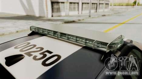 Dodge Charger RT 2016 Federal Police para el motor de GTA San Andreas