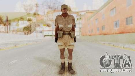 MGSV Phantom Pain CFA Soldier v1 para GTA San Andreas segunda pantalla