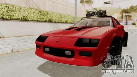 Chevrolet Camaro 1990 IROC-Z Rusty Rebel para la visión correcta GTA San Andreas