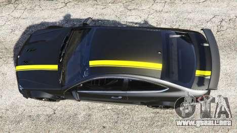 GTA 5 Mercedes-Benz C63 Coupe vista trasera