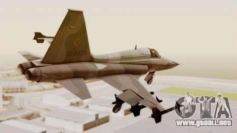 Northrop F-5E Tiger II JASDF para GTA San Andreas left