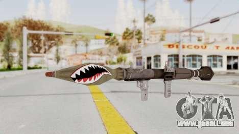GTA 5 Rocket Launcher Shark mouth para GTA San Andreas segunda pantalla