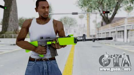 IOFB INSAS Light Green para GTA San Andreas tercera pantalla
