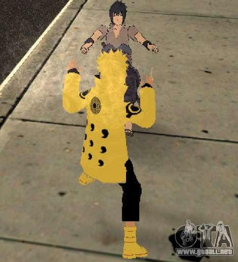 Naruto Ashura para GTA San Andreas sucesivamente de pantalla