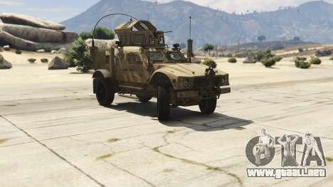 GTA 5 Oshkosh M-ATV 0.01 vista lateral derecha