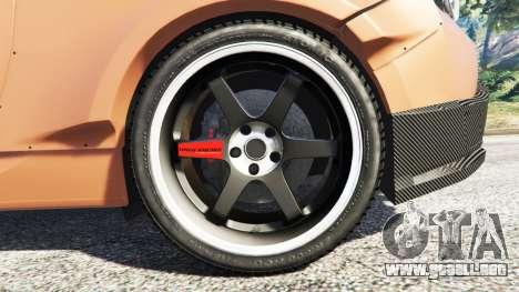 GTA 5 Subaru BRZ Rocket Bunny vista lateral trasera derecha