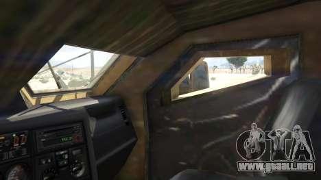 GTA 5 Oshkosh M-ATV 0.01 vista lateral trasera derecha