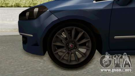 Fiat Linea 2011 para GTA San Andreas vista hacia atrás