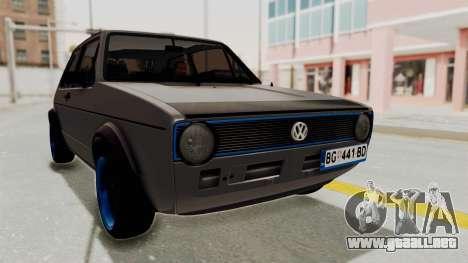 Volkswagen Golf 1 para la visión correcta GTA San Andreas