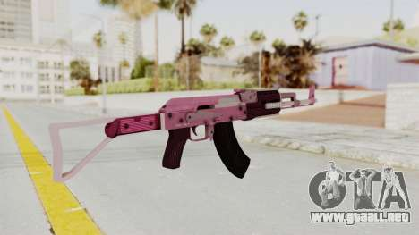 Assault Rifle Pink para GTA San Andreas tercera pantalla