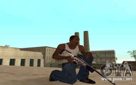 Purple fire weapon pack para GTA San Andreas quinta pantalla