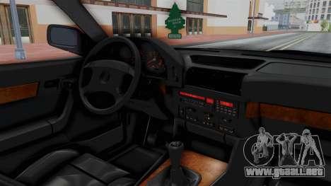 BMW 525i E34 1994 SA Plate para visión interna GTA San Andreas