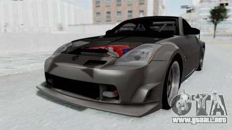 Nissan 350Z V6 Power para la visión correcta GTA San Andreas