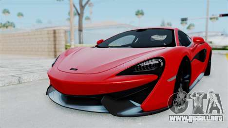 McLaren 570S 2016 para GTA San Andreas vista posterior izquierda