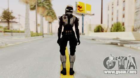 Mass Effect 3 Ajax Female Armor para GTA San Andreas tercera pantalla