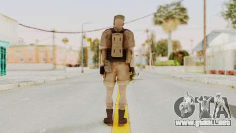 MGSV Phantom Pain CFA Combat Vest 2 v2 para GTA San Andreas tercera pantalla