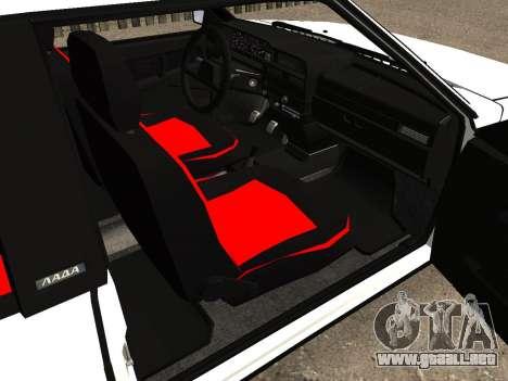 VAZ 2108 Stock by Greedy para visión interna GTA San Andreas