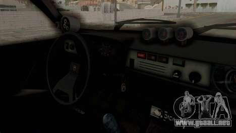 Dacia 1310 TX Turbo Police para GTA San Andreas vista hacia atrás