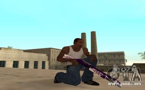 Purple fire weapon pack para GTA San Andreas sucesivamente de pantalla