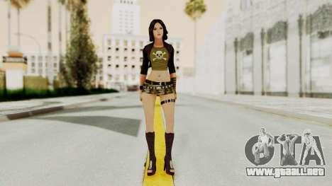 Gallacia Santos para GTA San Andreas segunda pantalla