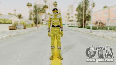 Power Rangers Time Force - Yellow para GTA San Andreas segunda pantalla