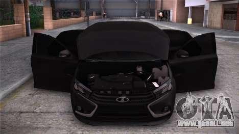 Lada Vesta Stoke para la visión correcta GTA San Andreas