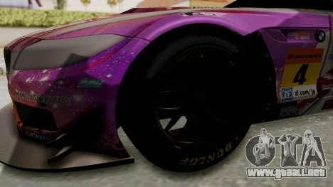 BMW Z4 GT3 Tobisawa Misaki para GTA San Andreas vista hacia atrás