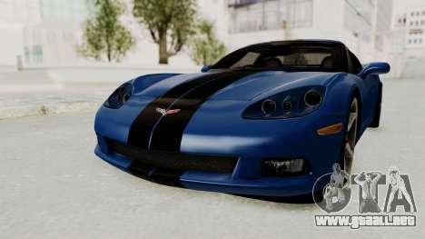 Chevrolet Corvette C6 para GTA San Andreas vista posterior izquierda