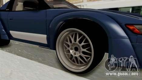 Nissan Silvia Sil80 para GTA San Andreas vista hacia atrás