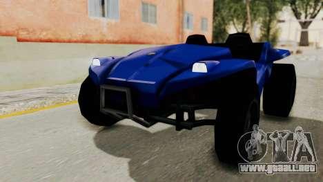 BF Buggy para GTA San Andreas vista posterior izquierda