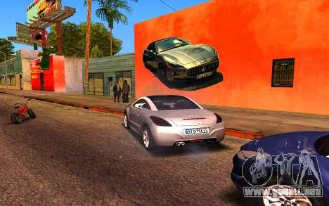 Maserati Wall Grafiti para GTA San Andreas sucesivamente de pantalla
