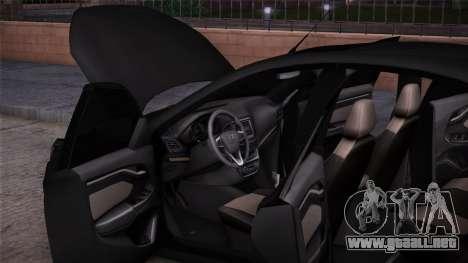 Lada Vesta Stoke para GTA San Andreas vista posterior izquierda